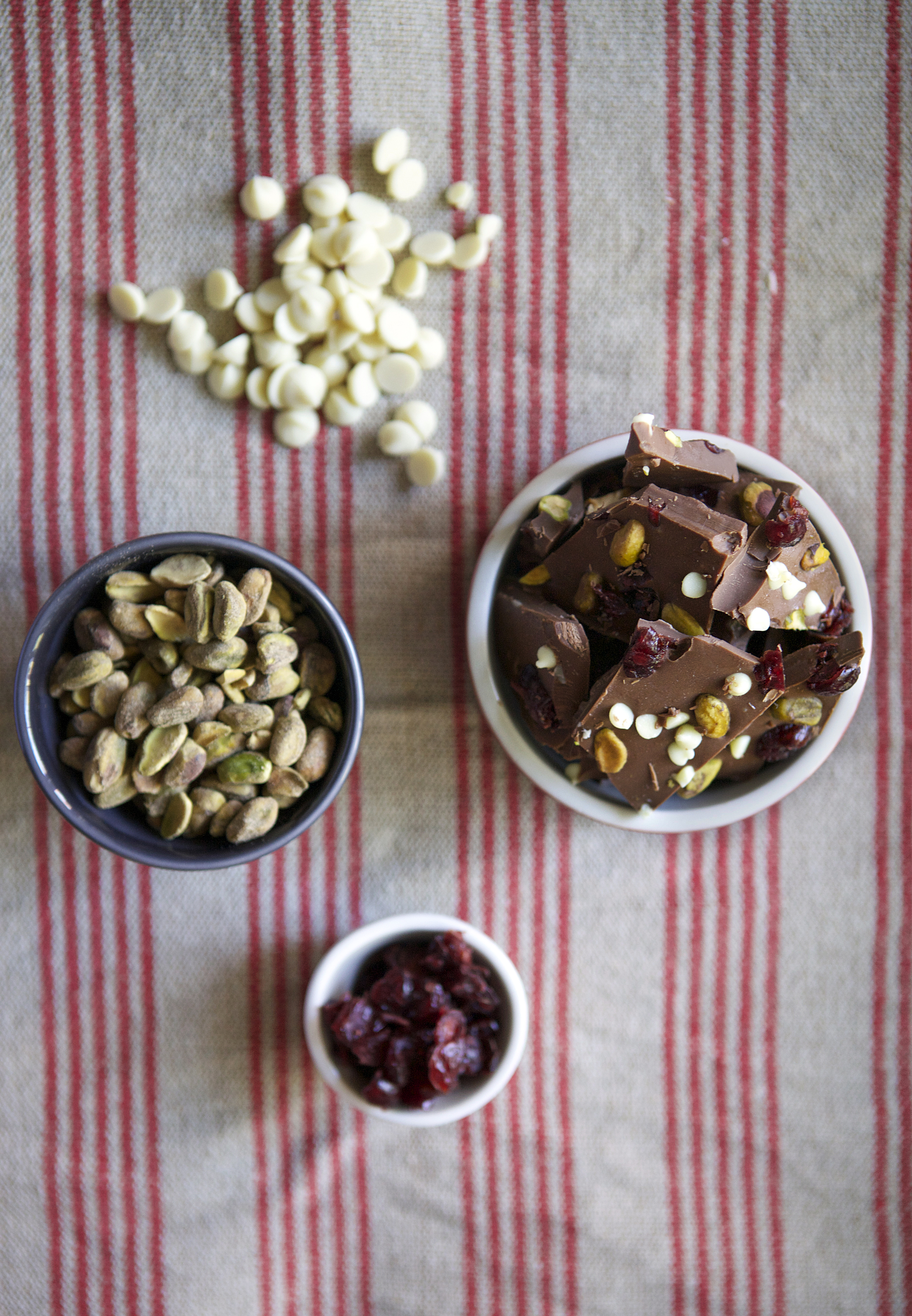 Cranberry & Pistachio Bark with Mini White Chocolate Chips because why not!