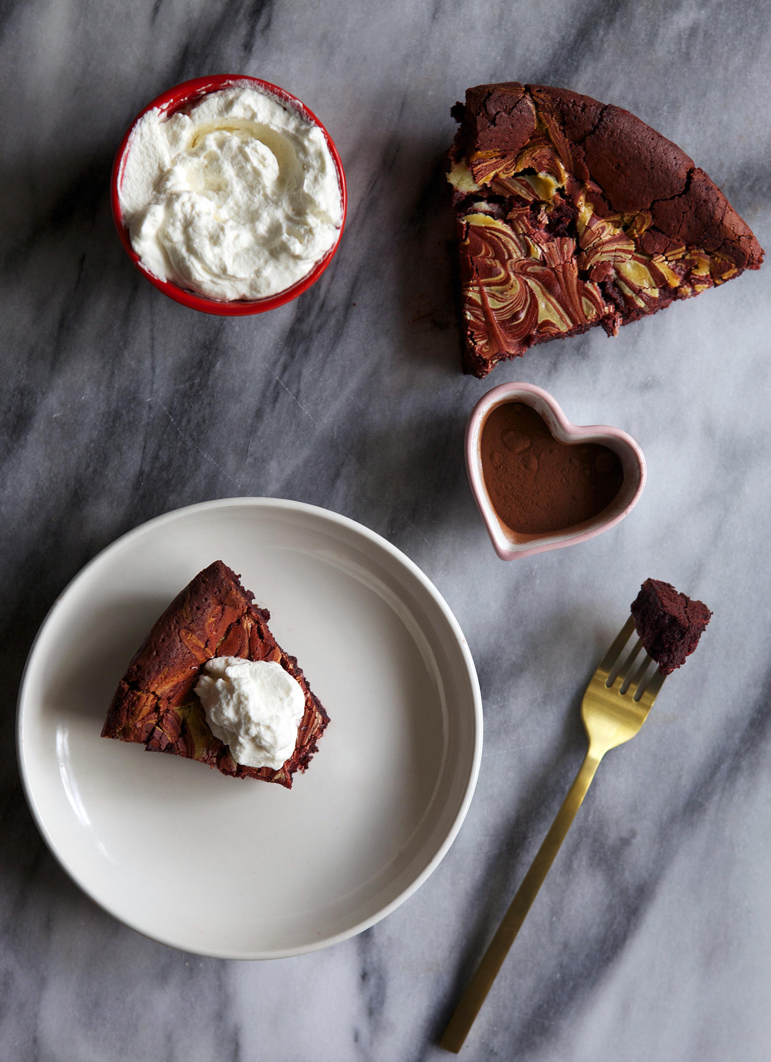 flourless red velvet marble cake // Glazed & Confused