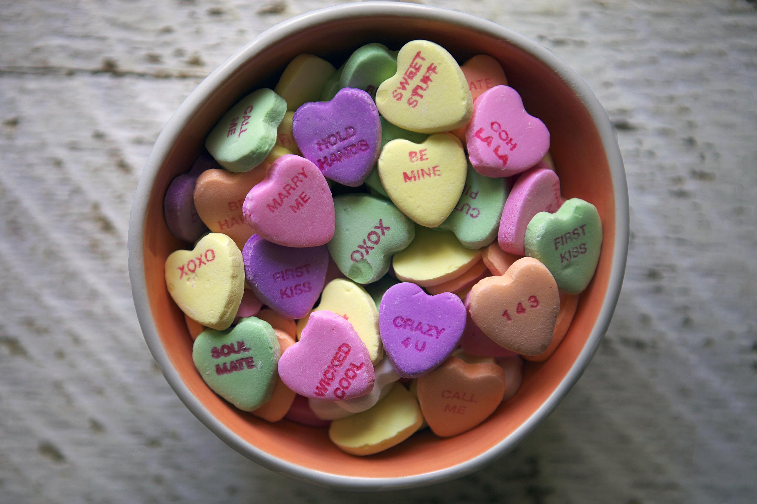 conversation heart pots de creme // Glazed & Confused