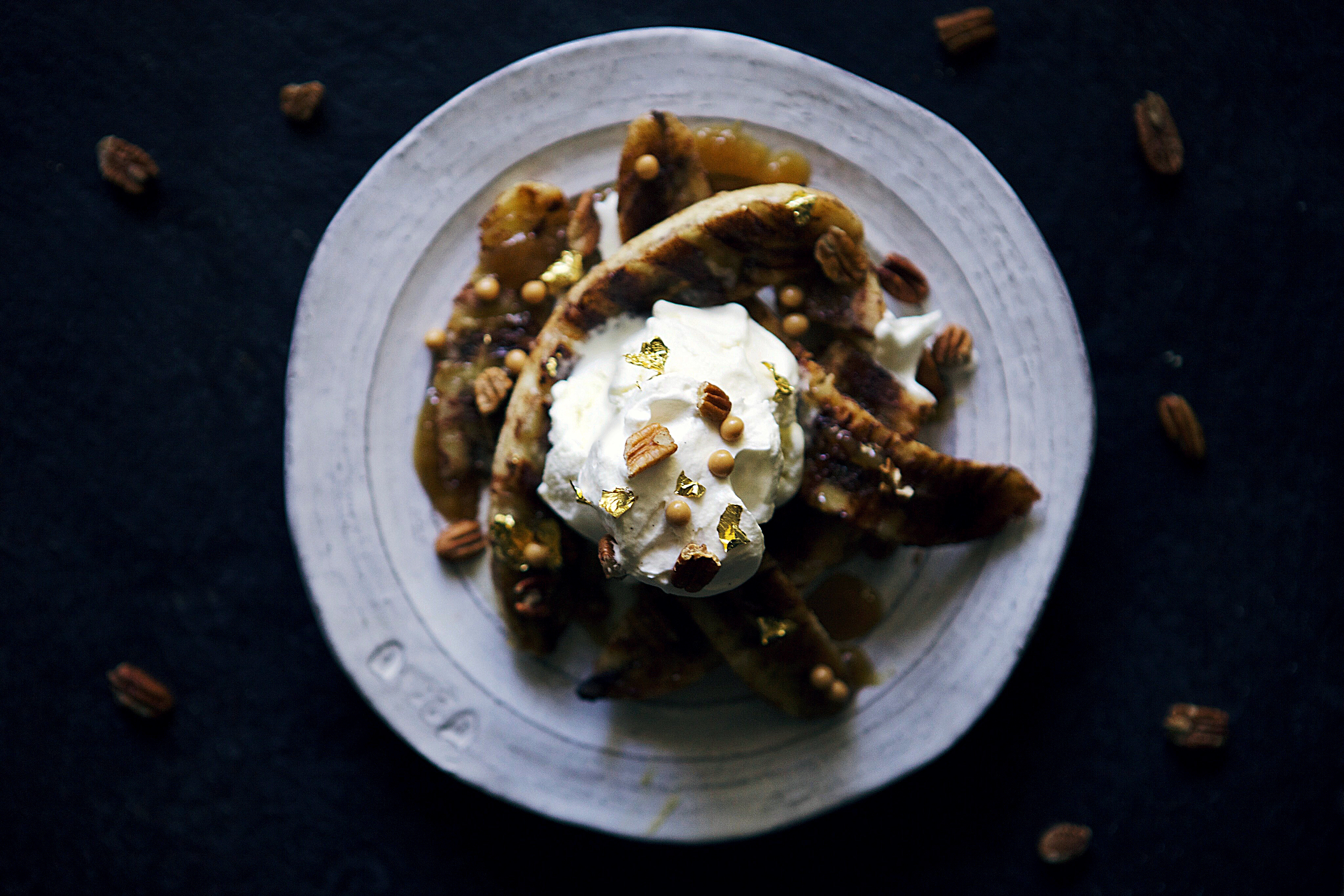 grilled bananas foster sundaes