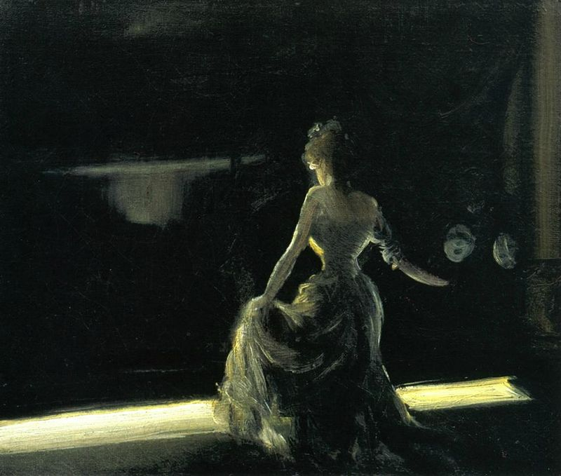 Everett Shinn .  Girl on Stage (1906) . Coll. pr.