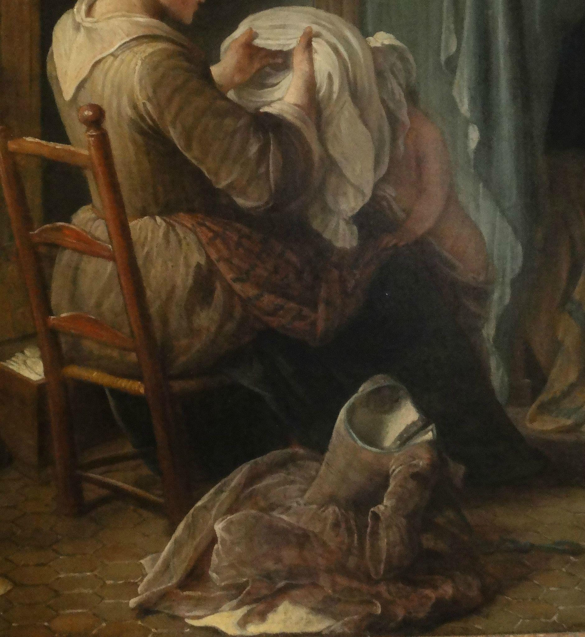 Pierre-Louis Dumesnil.  Servante habillant des enfants . 1730. Musée Carnavalet