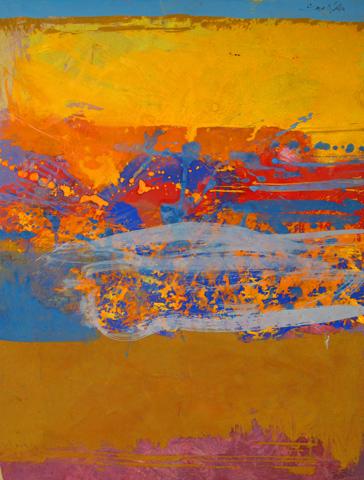 Saul Leiter.  To Remember Richard . 1970s. Gouache et aquarelle sur papier. Howard Greenberg Gallery.