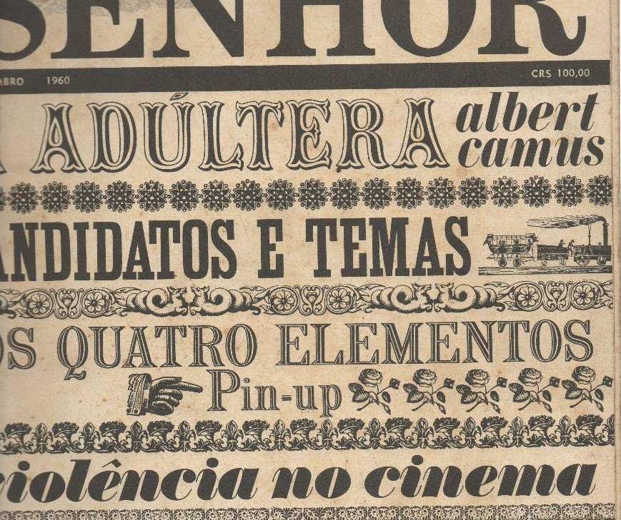 Couverture de Senhor, septembre 1960, par Michel Burton.