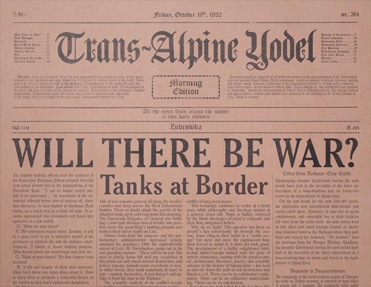 Édition du 13 octobre 1935 du  Trans-Alpine Yodel .