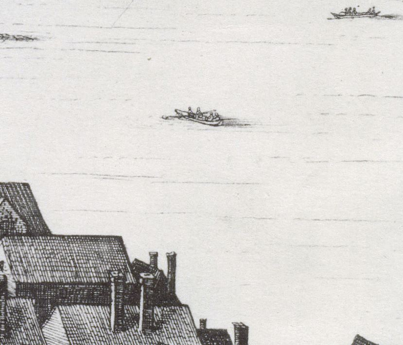 The Long View from Bankside   , 1647,  par  Wenceslaus Hollar. British Museum. Détail.