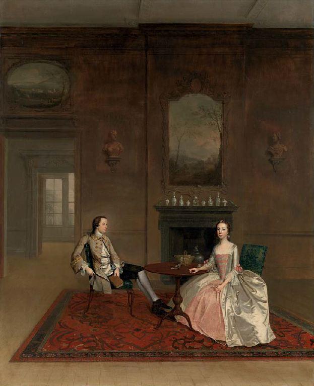 Arthur Devis. Mr and Mrs Bull. Metropolitan Museum, New York.