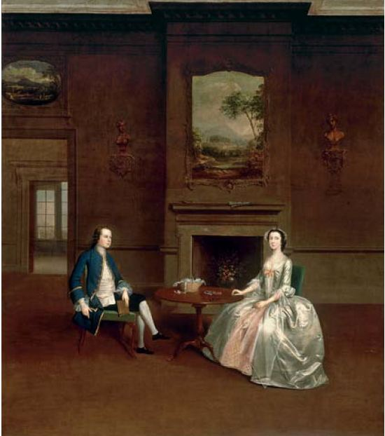 Arthur Devis. Mr and Mrs Robert Dashwood. ca 1750. Lieu inconnu.