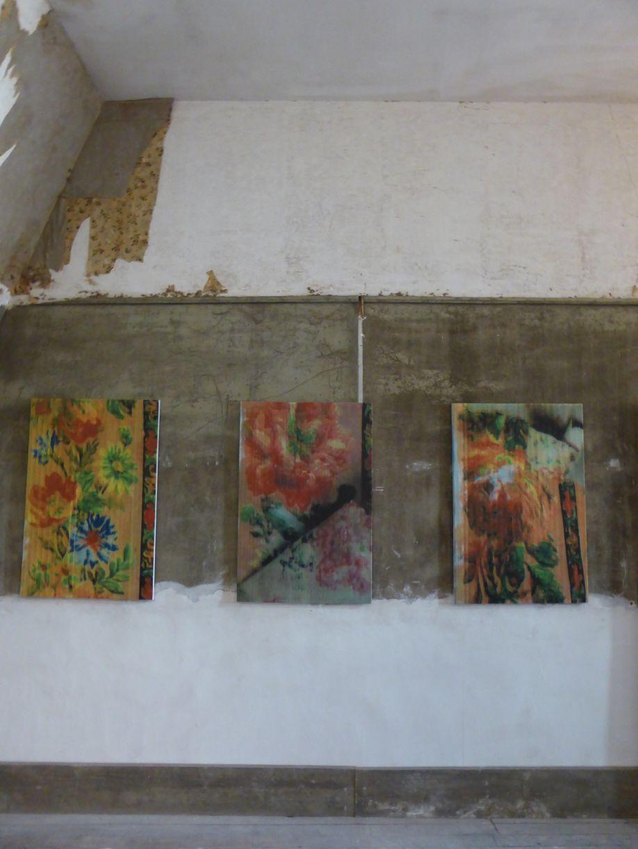 Fleurs fantômes , installation de Gabriel Orozco au Château de Chaumont-sur-Loire.