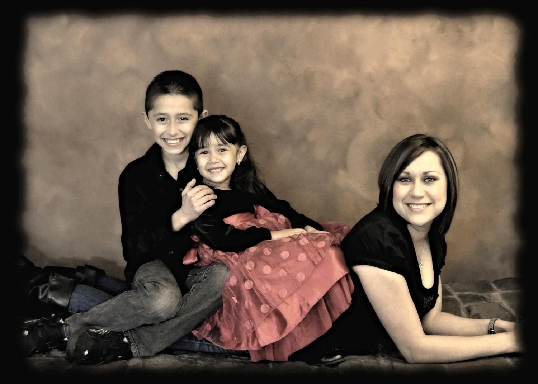 Studio family photo shoot