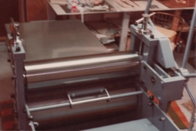 YR setup her first printmaking studio in the garage of her home in Anchorage with this press from the American French Tool Company (1978)