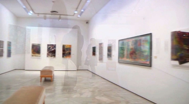 Installation photo of YR's retrospective exhibition at the Museum of Fine Arts of Asturias in 2009