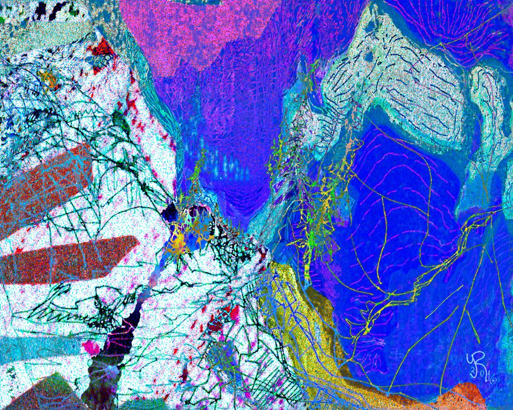 """Dibujo de Alaska """"Deshielo de los casquetes polares"""" , 2016."""