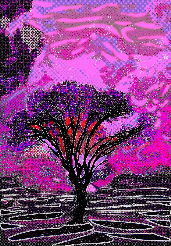 Mended Tree  (Árbol remendado) Digital C-Print, 108 x 75 cm
