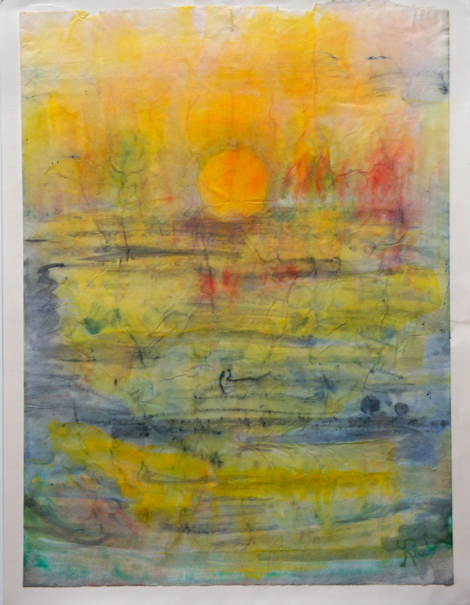 La mar teñida de amarillo  (The sea dyed yellow)