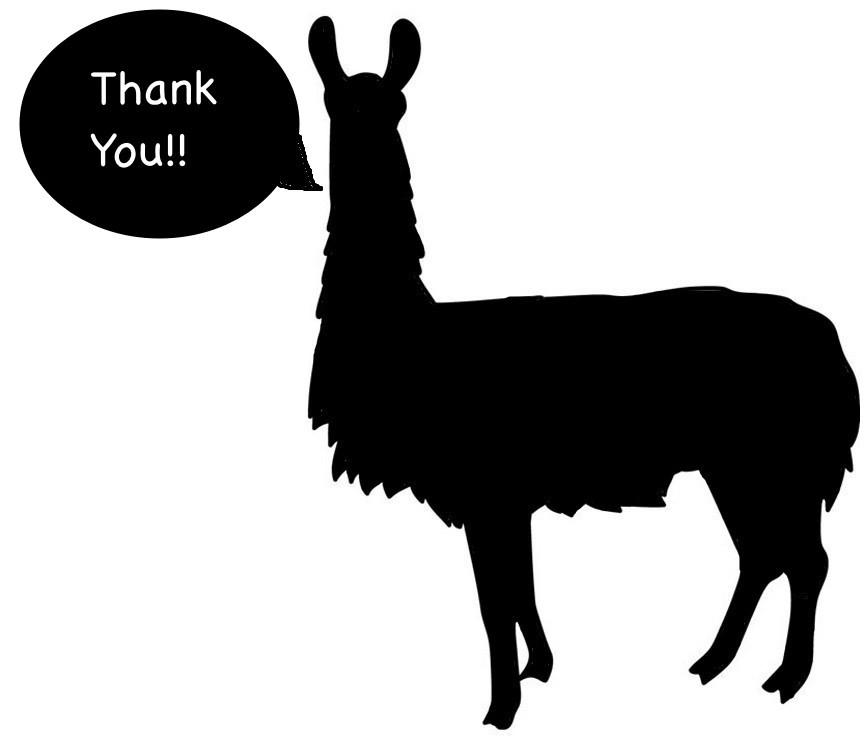 Bob the Thanksgiving Llama wanted to help me give thanks. Thanks, Bob!