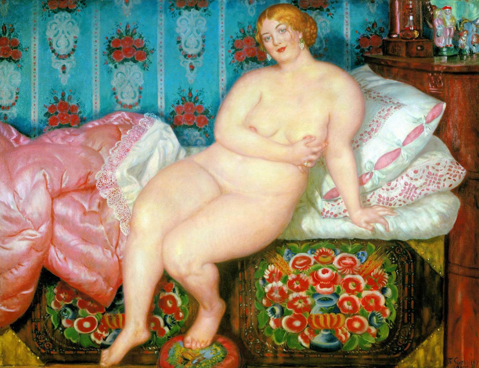 Beauty,Kustodiev,1915