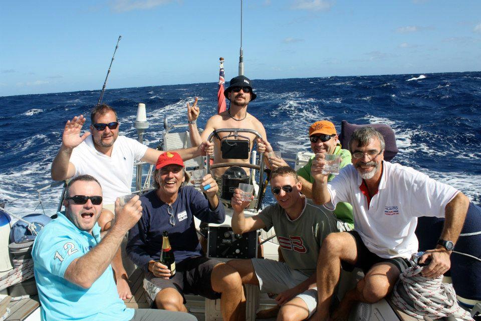 Celebrating Valerio's Birthday: Dec 1st - Steve, Angus, Valerio, Josh, Jan, Michael, Keith - thanks to Marie for holding the camera!