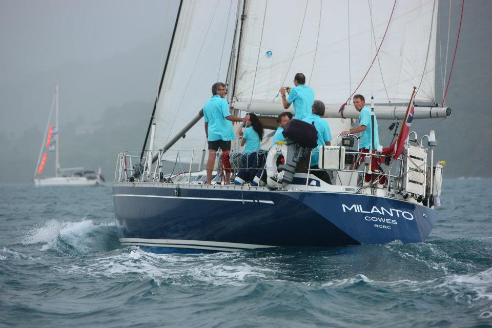 Sailing into Rodney Bay