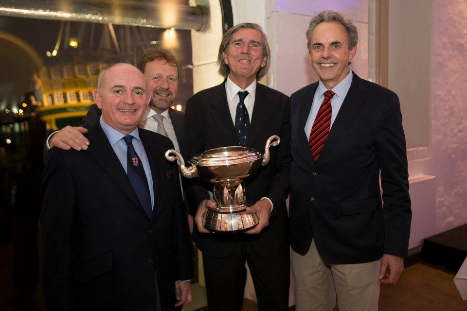 The Trans-Atlantic Winners -Skipper Valerio Bardi and most of the crew.