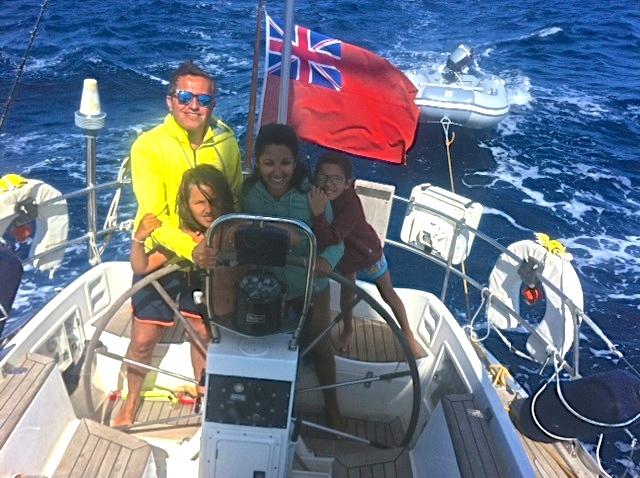 Enjoying the sailing in Sardinia
