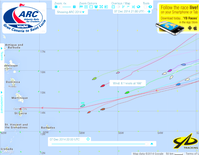 Milanto is the highest yellow yacht and Monomotapa behind her in pink.