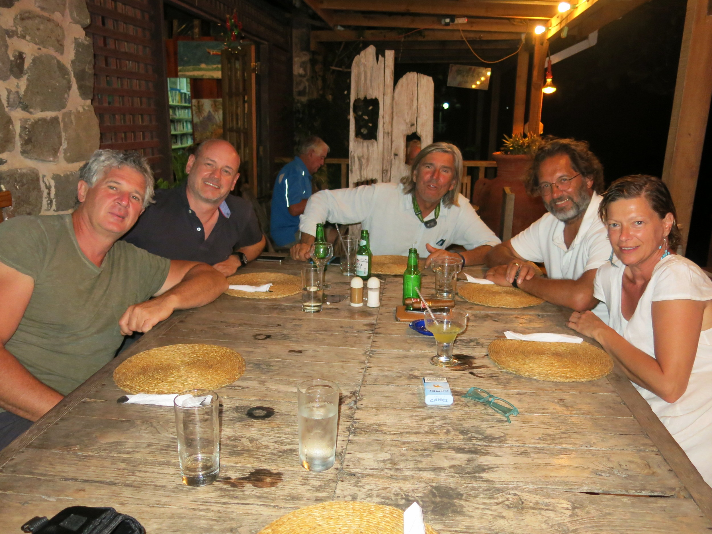 Alberto and Antonella joined us for a final meal......