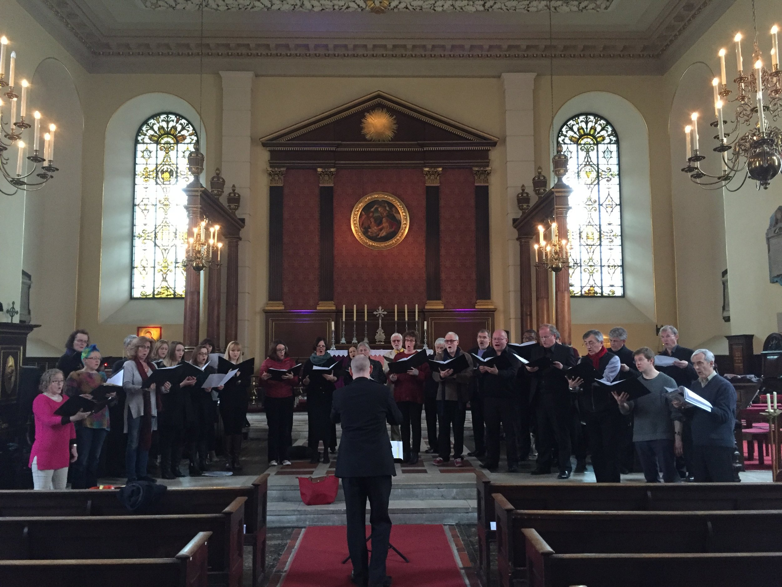 The Purcell Singers in rehearsal with Ben Collingwood