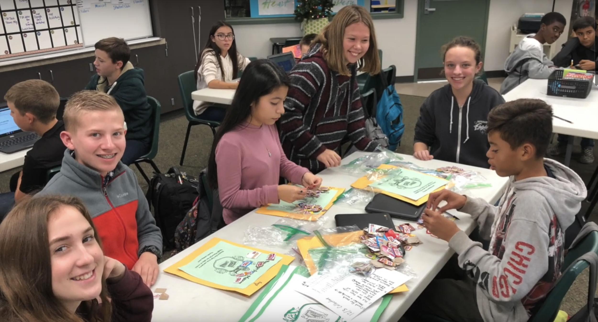 Norris SLED teammates preparing fundraiser materials