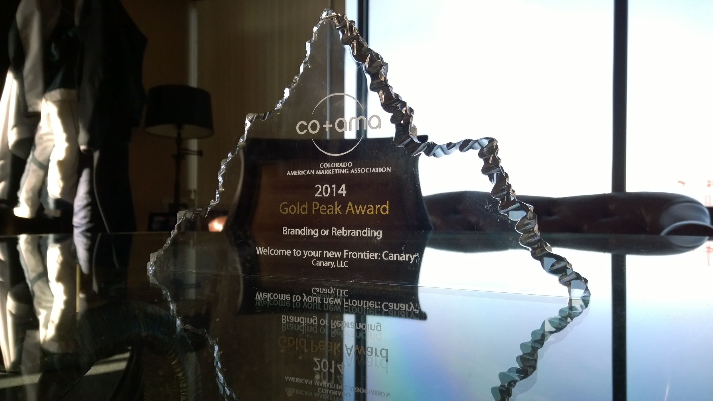 CO+AMA 2014 Gold Peak Award for excellence in re-branding.