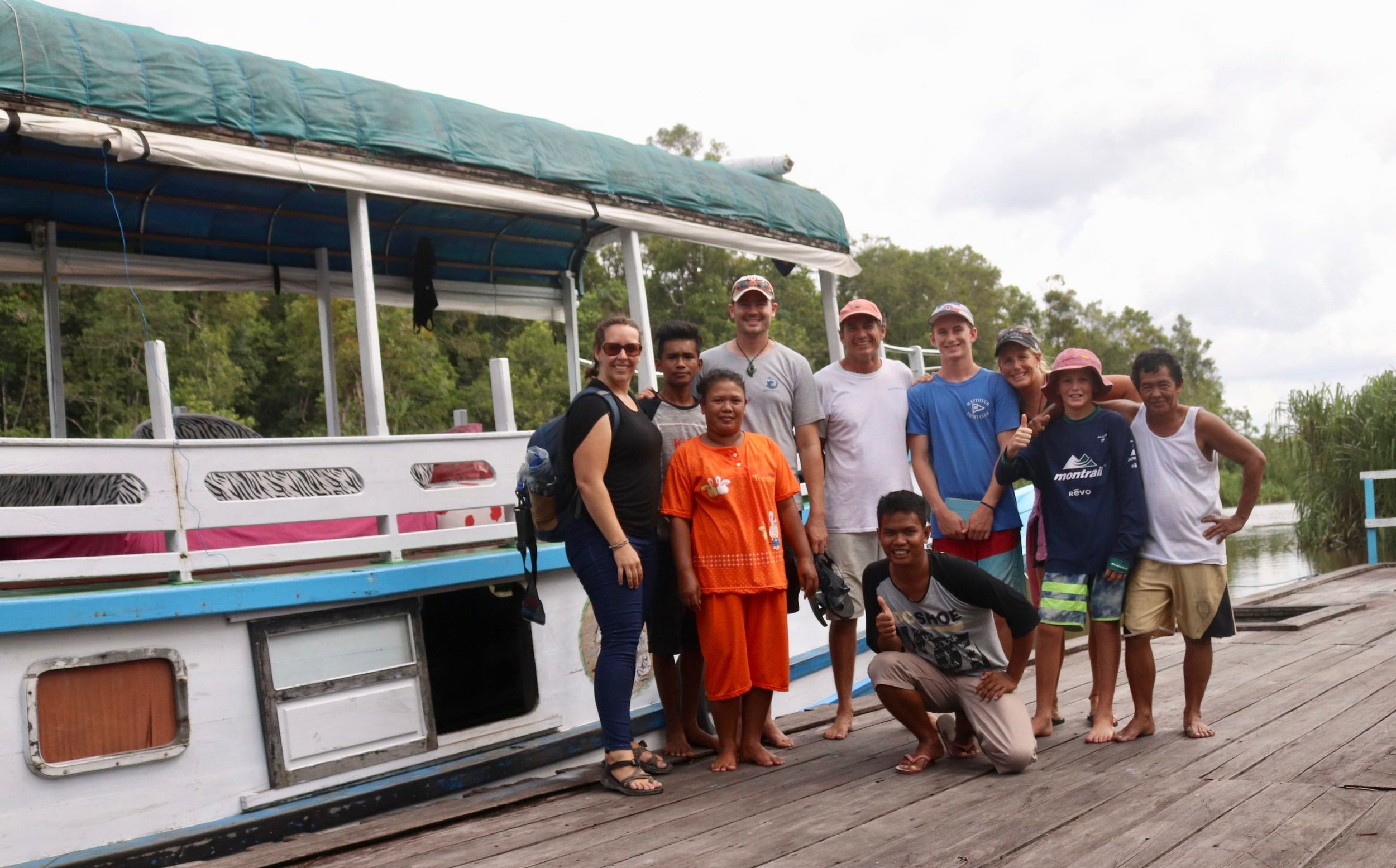Our boat and crew for three days!