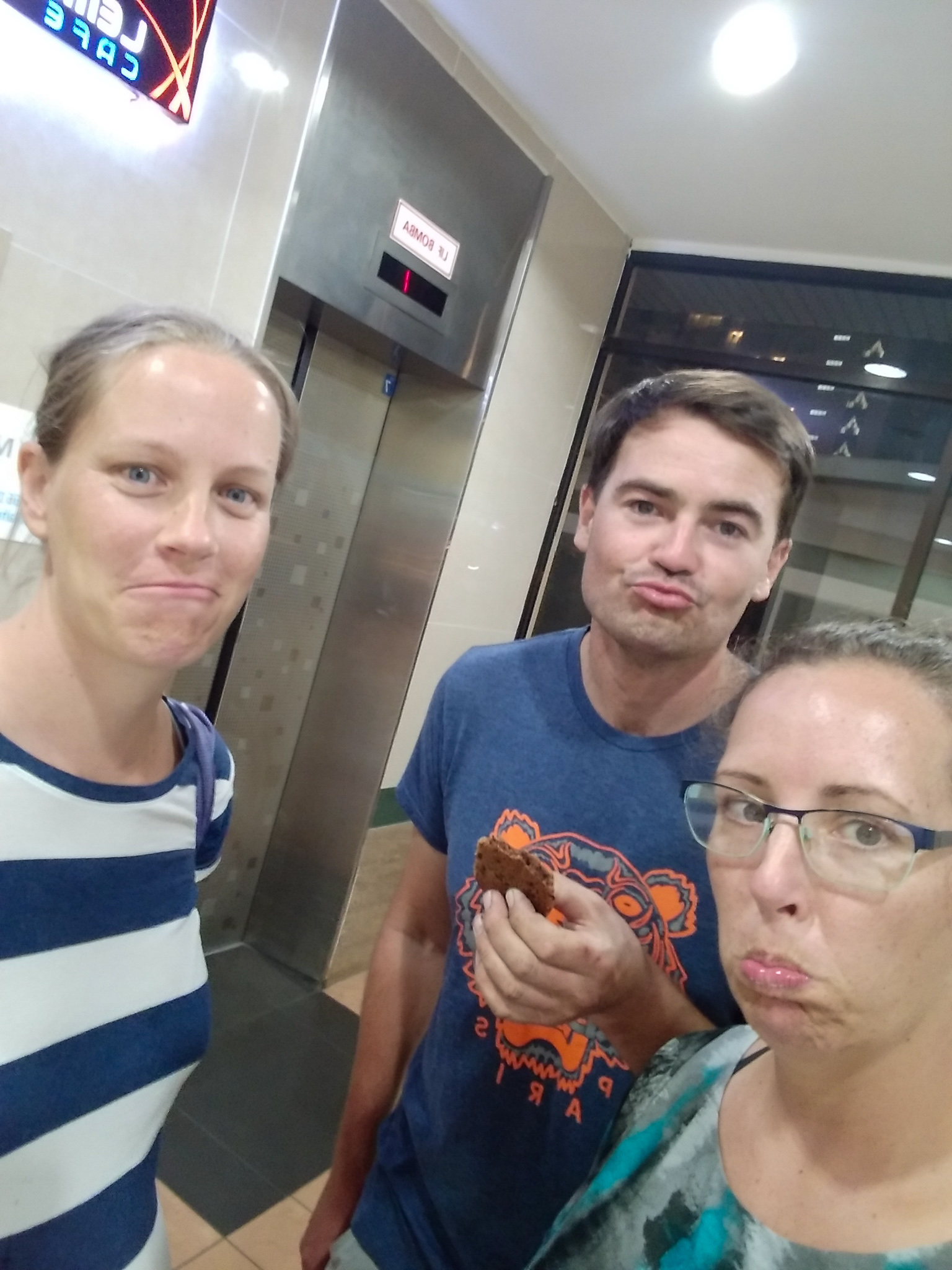 "This is meant to be our sad face. Andrew's sad face looks a lot like a Kardashian ""Ducklip"""