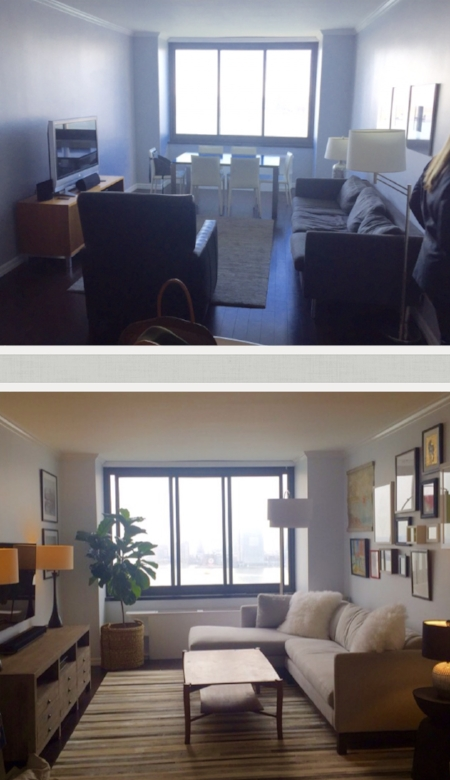 Rental Apartment Battery Park- Before & After