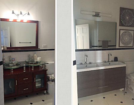 Bathroom- Before & After