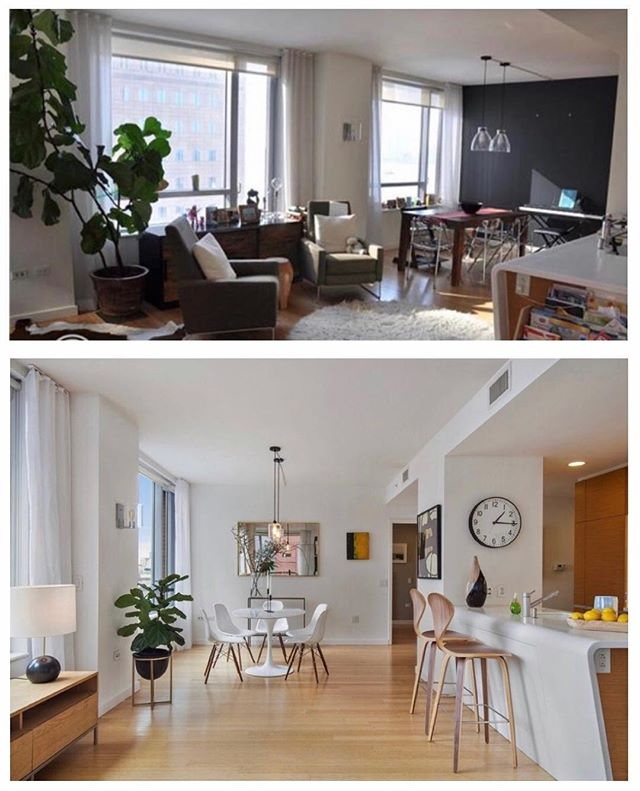 River Terrace Staging before & after !