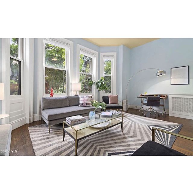 Loved Staging this beautiful apartment. Prewar Duplex with exquisite details on Mansion Row on Clinton Avenue  High Ceilings & a Private Terrace #forsale @levinerosenteam