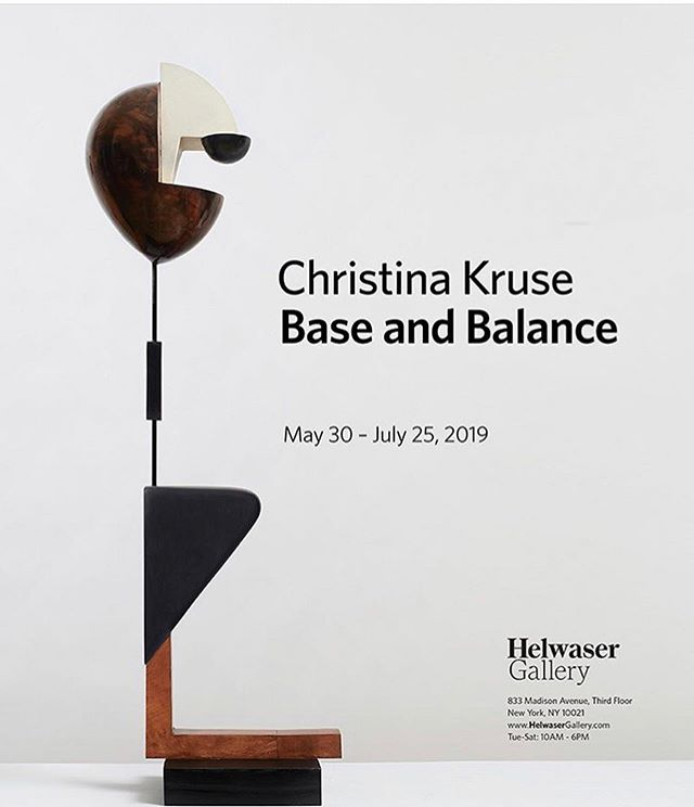 Love ❤️ my super talented friend Christina Kruse..Base and Balance exhibition of her sculptures showing @helwasergallery till July  25 th. @ckruse101