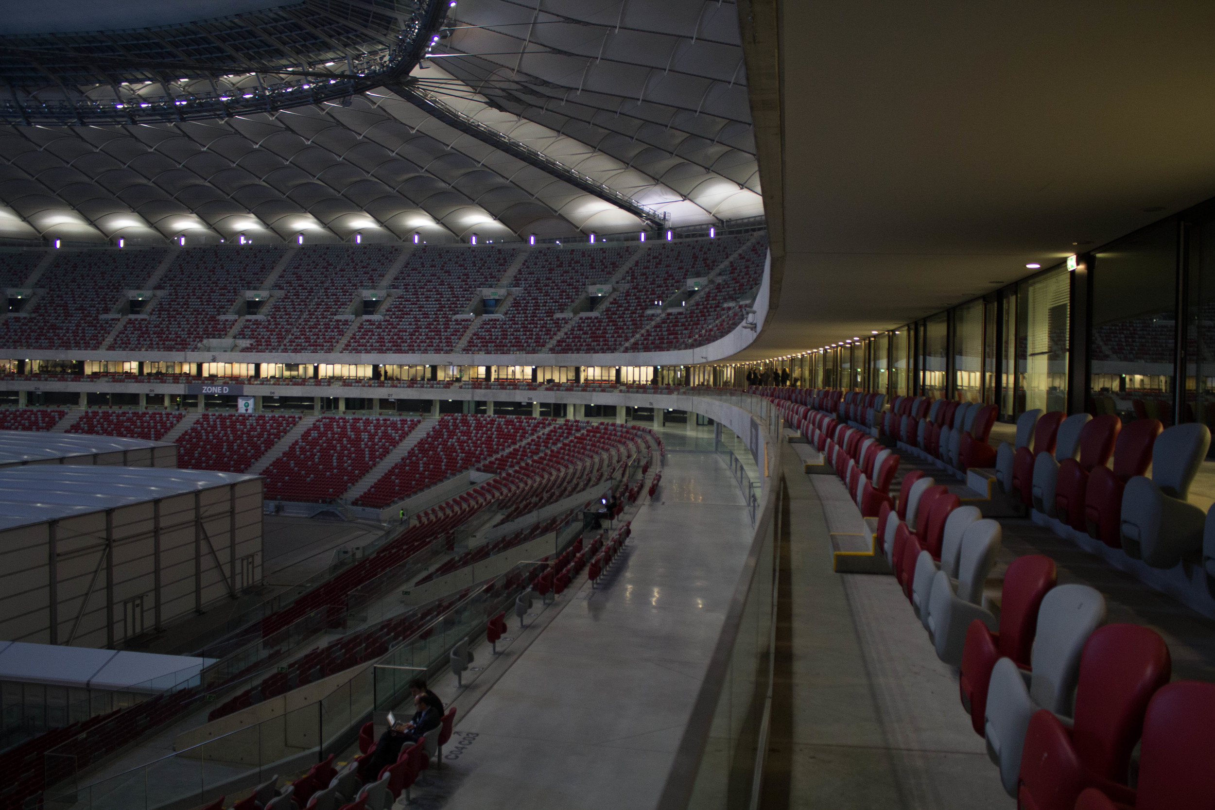 This stadium is as empty as the promises likely to be made in it. Photo credit: David Tong