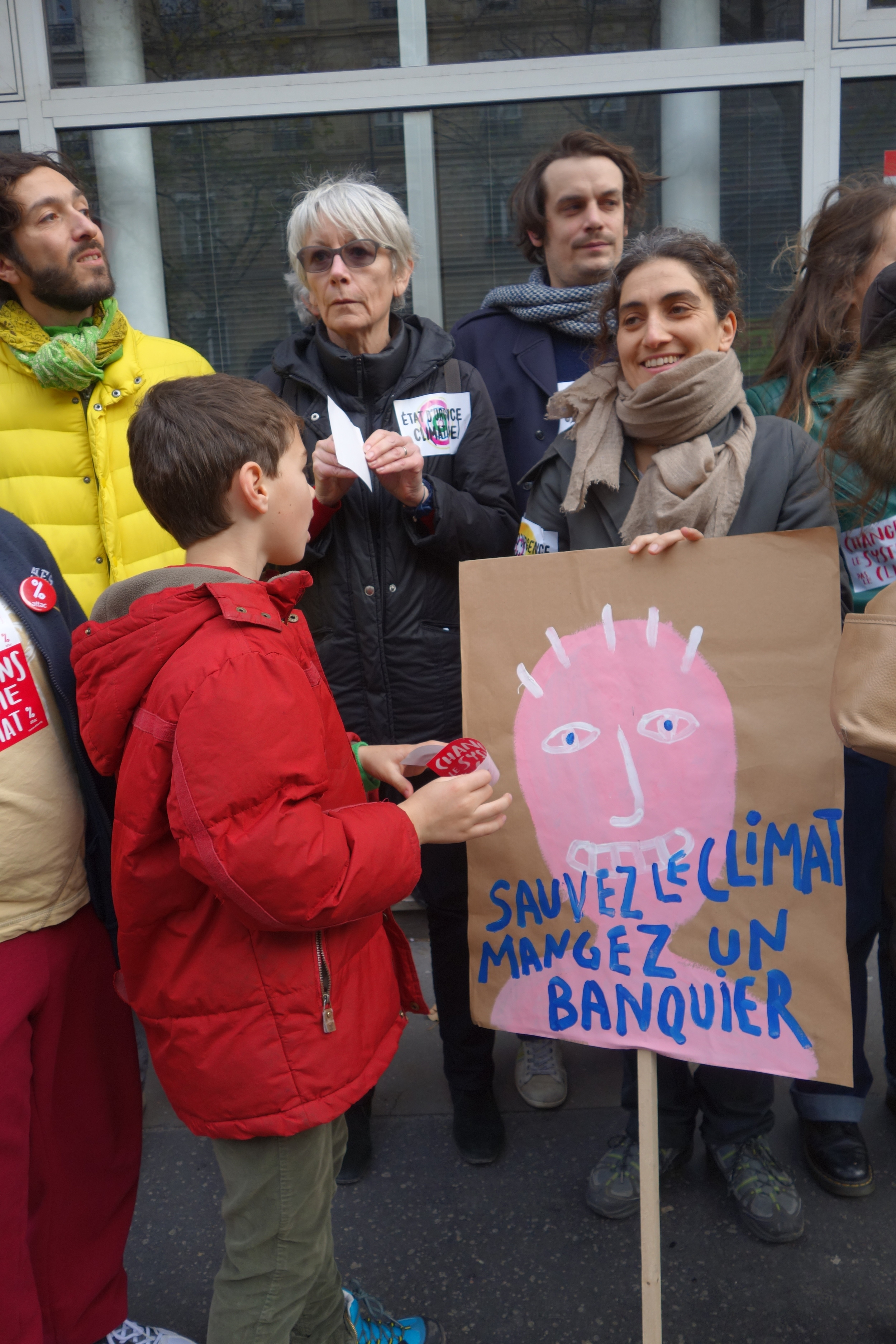 """""""Save the Climate, Eat a Banker"""""""
