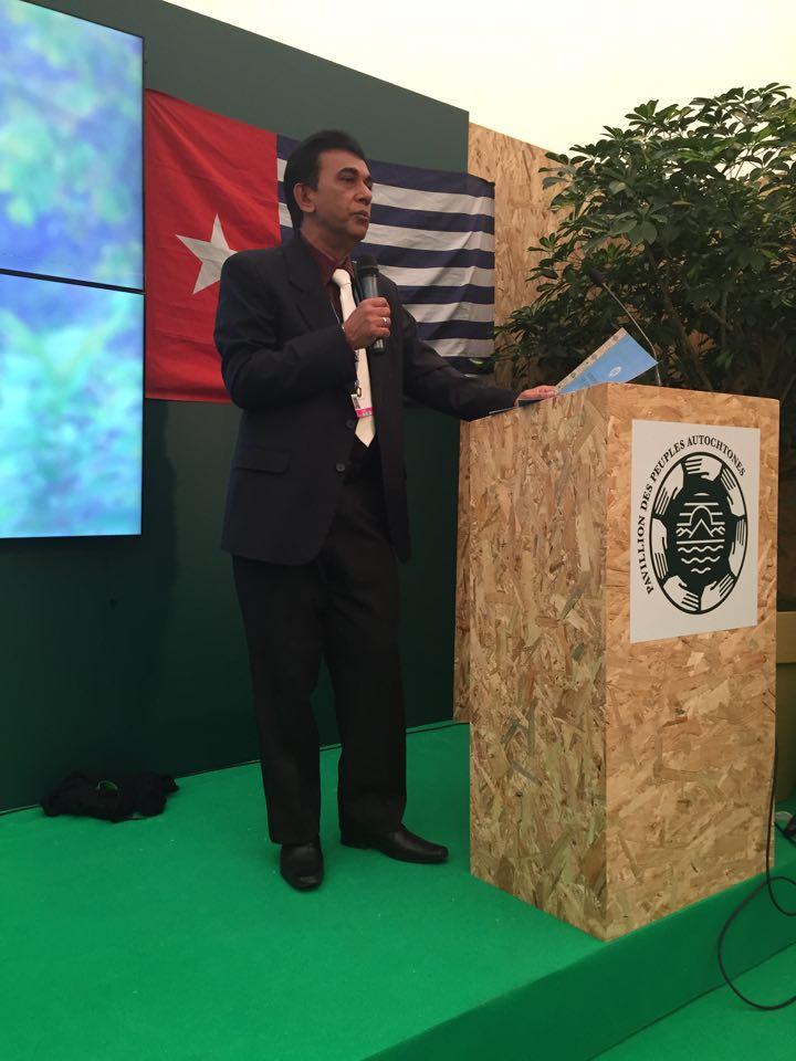 Mahendra Kumar of the Fiji Delegation speaking to the Suva Declaration
