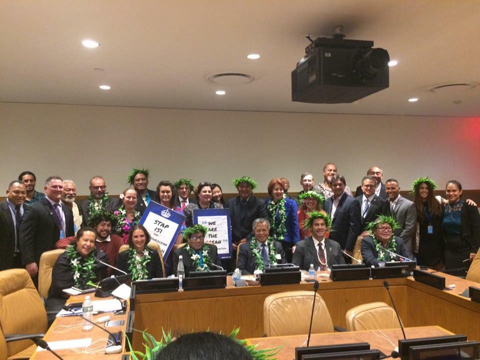 Going to scale in the ocean side event - with dignitaries from around the Pacific region