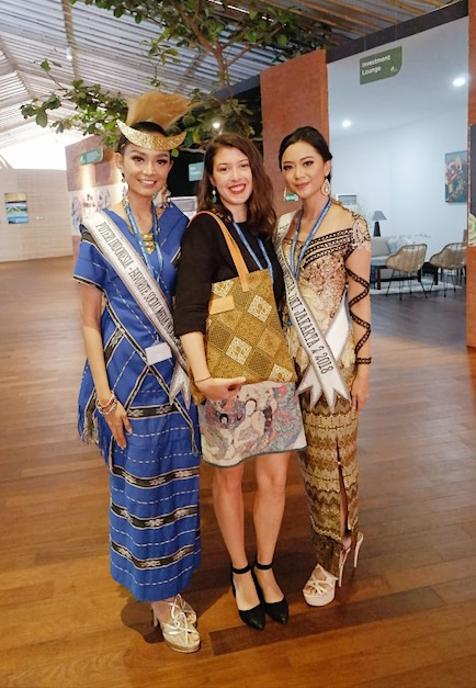 With Miss Indonesia and Miss Influencer Indonesia