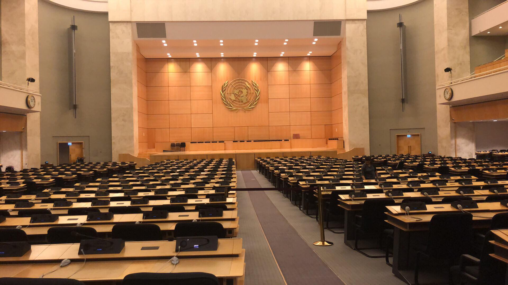 United Nations Assembly Hall. Geneva, Switzerland
