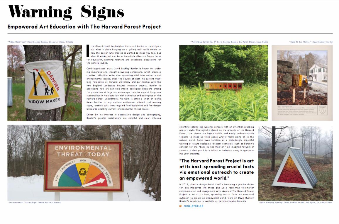 David Buckley Borden Harvard Forest Range Magazine