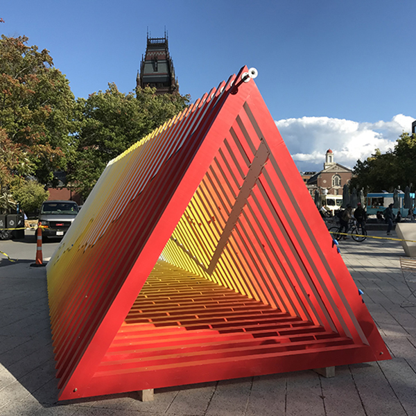 Warming Warning installation on Science Center Plaza, Harvard University, Cambridge, MA