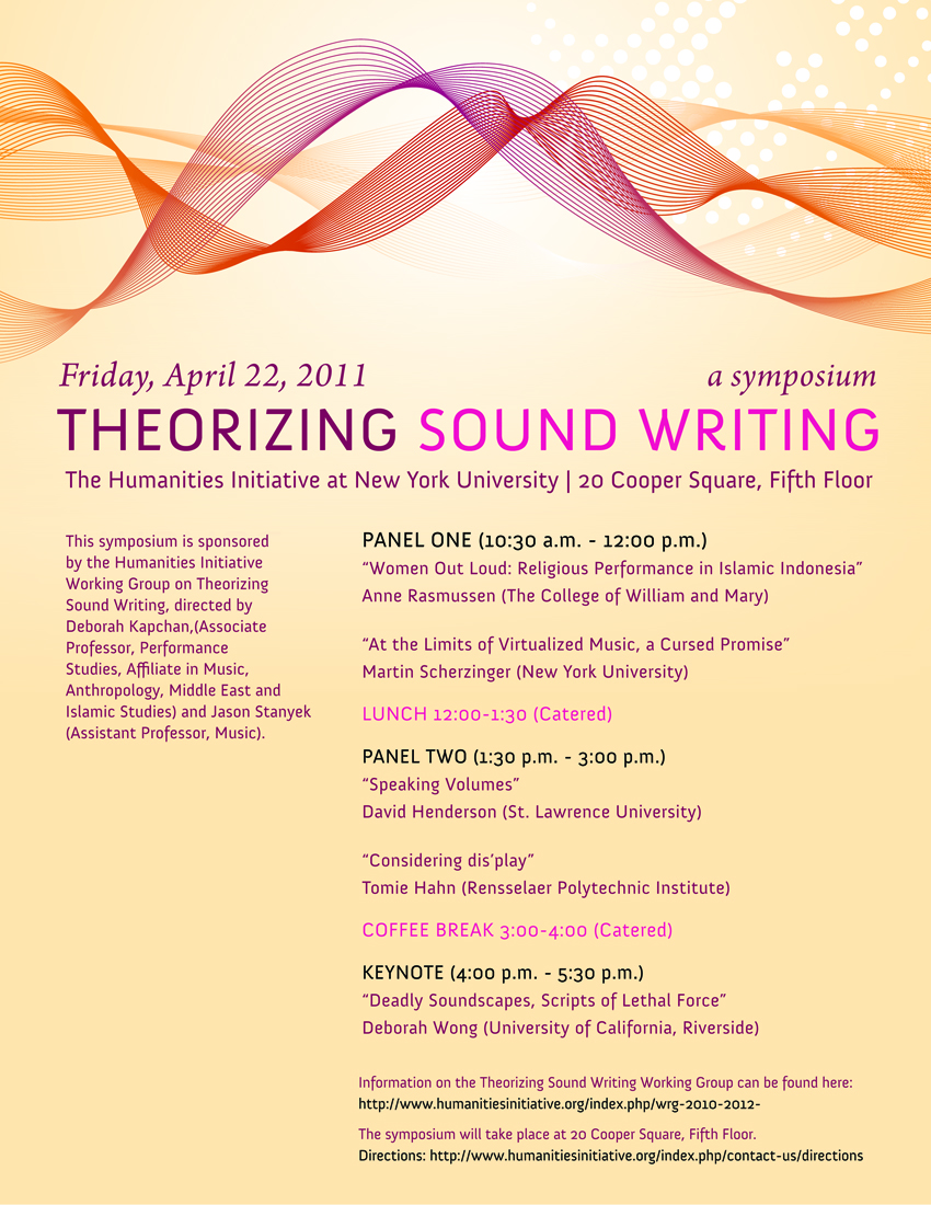 Theorizing Sound Writing Conference Poster (2011)
