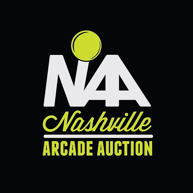 Logo and Branding work for the Nashville Arcade Auction —— #logodesigner #logo #freelance #graphicdesign #design #arcade #auction #adobeillustrator