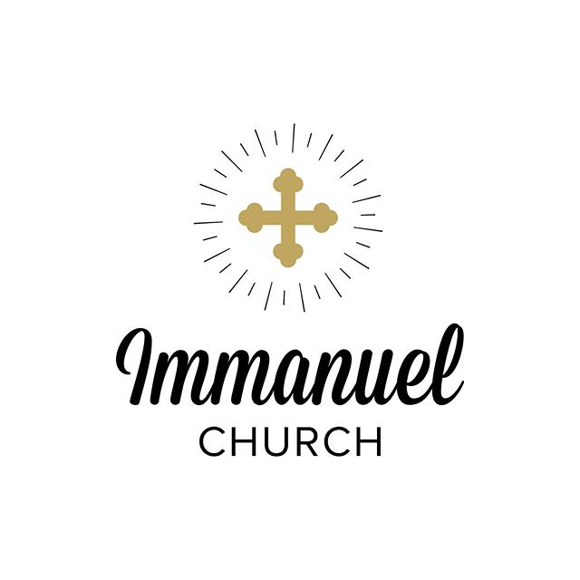 Logo and Branding for Immanuel Church in Birmingham, AL ——— #logodesigner #adobeillustrator #graphicdesign #design #freelance #logo #church