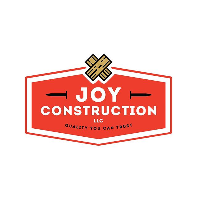 Logo and Branding work for Joy Construction —— #graphicdesign #design #logodesigner #logo #construction #freelance #adobephotoshop #adobeillustrator