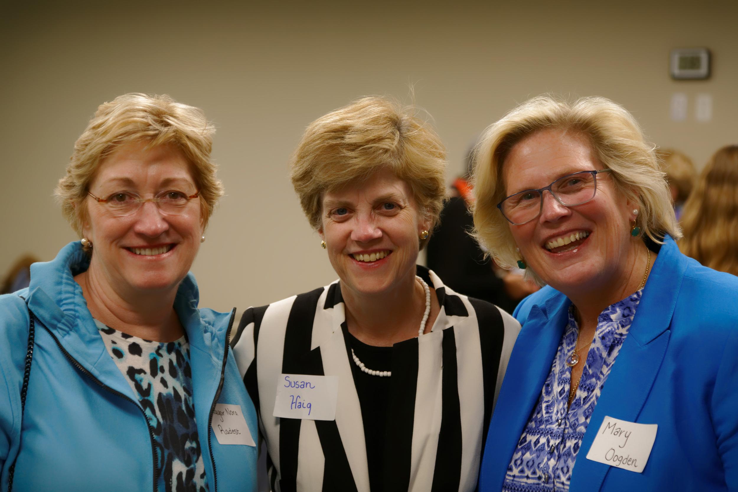 Summit Mayor Nora Radest; CivicStory Founder Susan Haig, Summit City Councillor Mary Ogden